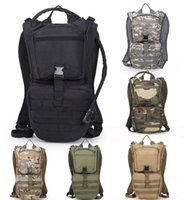 Wholesale water bag for cycling - Tactical Water Bag Outdoor Camouflage Sports Shoulders Bag Military Daypack For Cycling Running Climbing Hunting Water Bag Free DHL G585F