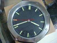 eletrônicos reais venda por atacado-8 estilo Topselling Relógio De Parede Moda CARVALHO REAL OFFSHORE 15400ST.OO.1220ST.01 15400 Aço Inoxidável Quartzo Eletrônico Relógio De Parede Luminescente