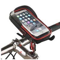 iphone bike bagaj çantası toptan satış-6 inç Bisiklet Bisiklet Su Geçirmez Cep Telefonu Çanta Tutucu Motosiklet Dağı Samsung galaxy s8 için artı / iPhone 7 artı / LG V20 / Mate 9
