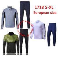 Wholesale Man Set Clothes - TOP quality 17 18 NEW soccer training suit 2017 2018 Higuain Dybala Marchisio Pianic tracksuit Sportswear Set skinny jogging clothing