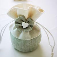 bolso regalo organza marfil al por mayor-Bolsa de regalo de la fiesta de cumpleaños del sostenedor del caramelo de gran tamaño marfil menta boda regalo para la ducha del bebé Ideas