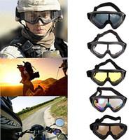 gafas de sol de esquí niebla al por mayor-Gafas de esquí Snowboard Motocicleta Gafas de sol a prueba de polvo Gafas de esquí UV400 Antiniebla Deportes al aire libre Gafas a prueba de viento Gafas