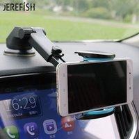 мобильные gps-устройства оптовых-JEREFISH автомобильный держатель телефона моющийся присоска приборной панели лобовое стекло мобильного телефона выдвижной автомобильный держатель для GPS-устройства