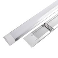 luces de tubo led de montaje en superficie al por mayor-Tubos de hilera LED montados en superficie Doble fila Luces 1FT 2FT 3FT 4FT T8 Accesorio Purificati LED tri-prueba Tubo de luz 20W 40W CA 110-240V