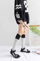 Wholesale Girl Knee Socks White - Women Socks 3 Colors Autumn Winter Stockings Socks Fashion Brand Colorful Socks for girl