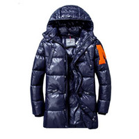 büyük erkek kış ceketleri ceketleri toptan satış-Marka Erkek Veste Homme Açık Kış Jassen Kabanlar Büyük Kürk Kapşonlu Fourrure Manteau Aşağı Ceket Kaban Hiver Parka Doudoune