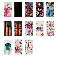 Wholesale Tpu Cases Wholesale Usa - Leather Wallet Case For Sony L2,XA2,Ultra,Xperia XZ2,XZ1,Compact Eiffel Tower Flower Butterfly UK USA Flag Camouflage Don't touch Phone Flip