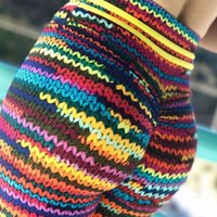 Wholesale colorful yoga pants resale online - Women Yoga Pants D Wool Printed Leggings Slim with Yellow String on Waist and Colorful String Front Leggin Workout Leggings