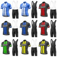 Wholesale giant pro cycling for sale - Group buy 2018 Pro GIANT Cycling Clothing Sets Bike uniform Summer Mans Cycling Jersey Set Road Bicycle Jerseys MTB Bike Wear Sportswear C2905