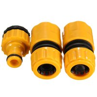 """Wholesale hose pipe fitting - 3pcs Hose Pipe Fitting Set Quick Yellow Water Connector Adapter Garden Lawn Tap Garden Accessories for 3 4"""" and 1 2"""" Taps"""