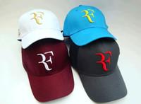 han kapağı toptan satış-Tenis Kap Toptan-Roger federer tenis şapkaları wimbledon RF tenis şapka beyzbol şapkası han baskı şapka güneş şapka