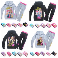 Wholesale children hooded tracksuits online - New Suits Tracksuit Autumn Baby Clothing Sets Children Girls Fashion Brand Clothes Kids Hooded T shirt And Pants jojo siwa MMA906