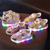 Led Luminous Shoes for sale - Vieeolove Kids LED Luminous Sneakers USB Rechargeable Child Air Mesh Boys Girls Sports Breathable Shoes Light Up Casual VL-304