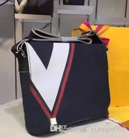 ingrosso valigetta in pelle gialla-2018 nuove borse in vera pelle borse a tracolla messenger borse da ufficio in pelle per gli uomini documenti borse da viaggio valigetta + sacchetto di polvere rosso giallo