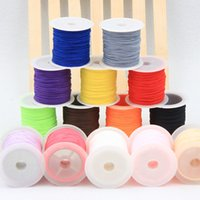 ingrosso corda in nylon di bracciale-25 Yards / roll Corda Satin Rattail Poliestere Nylon Cords / String Corda nodo cinese Abbigliamento fai da te pacchetto Bracciale risultati dei monili