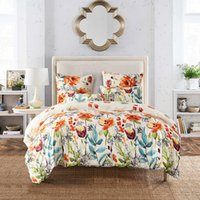 Wholesale comforter sets for king size - Pastoral Printed duvet cover sets For Home comfortable Breathable Pillowcase Comforter Bedding Set 3-pcs set Quilt King Size