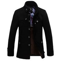 Wholesale Park Stand - Luxury Jacket Designer Brand Clothing Winter Jakets For Men And Parks stand-up collar men's windbreaker jacket thickened woolen coat