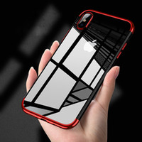 Wholesale shining tpu case - For iPhone X 6 6S 7 8plus S9 Soft TPU Cases Ultra Thin transparent plating shining Case for iPhone X Mixed silicon cover