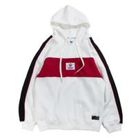 Wholesale block standard - Autumn 2018 Hoodies Streetwear Hip Hop Baggy Pullover Hoodie Sweatshirts Harajuku Hoodie Fashion Color Block Patchwork Casual