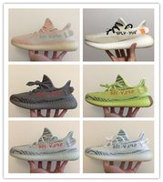 Wholesale nice lights - 2018 New Nice Sply 350 V2 Of-White Semi Frozen Yellow Zebra Pink Blue Tint Grey Beluga 2.0 Kanye West Running Shoes Sneakers