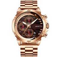 Wholesale cars wristwatches resale online - Men Brand Original Watches Luxury Multifunction Watch male Quartz Wristwatch stainless steel clock waterproof Sports car dashboard style