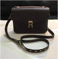 7811157c68f40 AAA + Ücretsiz kargo yüksek kalite hakiki deri + yumuşak kanvas kadın çanta  pochette Metis omuz çantaları crossbody çanta