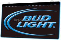 ingrosso bud light signs-[F006] Bud Lite Beer Bar Pub Club Logo NOVITÀ 3D Incisione LED Light Sign Personalizza su richiesta 8 colori