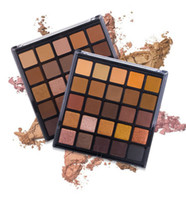 erdungs-kits großhandel-Großhandel Keine Label Kosmetik Make-up 25 Farben Matte Schimmer Lidschatten-palette Lidschatten Make-Up Kits Natürliche Erde farbe lidschatten-palette