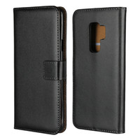 Wholesale note edge wallet cases - Genuine Real True Leather Wallet Case For Iphone X Plus S SE S Galaxy S9 Plus S8 S7 Edge Note ID Credit Card Hard PC Flip Cover