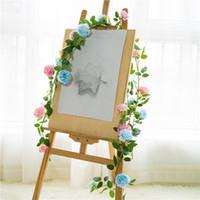 hera de enforcamento artificial venda por atacado-1.8 m de alta qualidade de seda artificial rose hera videira flores artificiais com folhas verdes para decoração de casamento em casa pendurado guirlanda