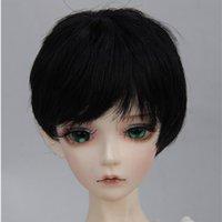 ingrosso parrucche bionde in vendita-Parrucca per parrucche BJD corte marrone marrone 1/6 1/4 1/3 vendita calda nero