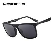 Wholesale men s fashion polarized sunglasses - MERRY'S DESIGN Men Polarized Square Sunglasses Fashion Male Eyewear Aviation Aluminum Legs 100% UV Protection S'8250