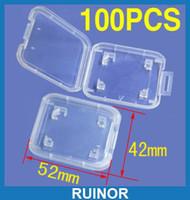 hafıza kutusu kartları toptan satış-100 adet SD RS MMC SD Hafıza Kartı Koruma Kutusu Kılıfları