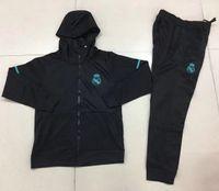 Wholesale F Foot - hot sell 2018 GRIEZMANN mens clothing zipper jacket tracksuit 17 18 Maillot de foot F TORRES KOKE SAUL Real Madrid coat mens hoodies jacket