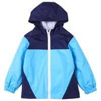 Wholesale yellow spring jacket for girls resale online – classical kids raincoat jacket simple colors gentleman style hooded coat for years children boys girls waterproof outerwear clothing