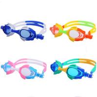 pez espejo al por mayor-En forma de pez Gafas para niños Anillo de espejo de silicona Antivaho Lentes impermeables Anteojos Use Comfort Kid Gafas de natación Venta caliente 7yl Ykk