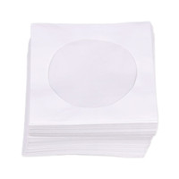 Wholesale Dvd Disc Storage - Mini 95pcs Protective White Paper CD DVD Disc Storage Bag Envelopes Flap Dustproof Anti Scratch CD DVD Protect Bag 8.5cm x 8.5cm