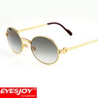 Wholesale full rims - Luxury Metal Frame Sunglasses Brands for Men Women Retro Brand Designer Sun Glasses Full Rim Glasses Gold Frames with Original Box