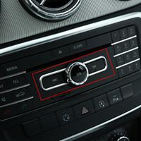 mercedes benz trim venda por atacado-Estilo do carro Interruptor de CD Chrome Centro De Lantejoulas Console Guarnição Para Mercedes Benz CLA GLA A B Classe A180 W176 E Classe GLE Coupe