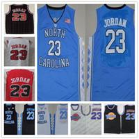 Wholesale grey pinstripe - Vintage Michael Swingman Jerseys North Carolina Tar Heels Basketball 23 College Basketball Black Pinstripe Red White Space Jam film all star