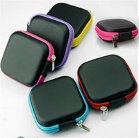 Wholesale Function Office - Fashion PU EVA Earphone Storage Box Square Built In Mesh Data Line Zipper Bag Multi Function Case Organizer For Home 1 5ph BY