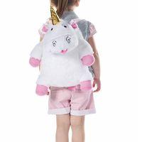 рюкзаки рюкзаки девушки оптовых-Fashion Cartoon Unicorn Cotton Backpack Cute Animal Backpacks For Women Girls Travel Female Backpack Rucksack Stuffed Toys