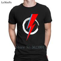 ingrosso lampeggiante musica tshirt-Cool T Shirt Homme Bowie Flash Hero Musica Blackstar Rebel Space T-Shirt da uomo Best Slim Fit da uomo Tshirt O Neck Tee Shirt Graphic