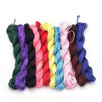 ingrosso corda in nylon di bracciale-Nuovi arrivi 17 Colori 24 m * 10 doz Filo di nylon Filo di perline Filo di corde cinesi Macrame Rattail Per DIY Braccialetto intrecciato
