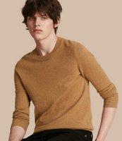 suéter de algodón negro al por mayor-Designer London Men Brit Sweaters Pullover England Cotton Solid Sweater Negro Beige Rojo Gris