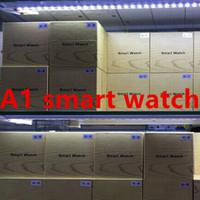 браслет bluetooth часы для iphone оптовых-A1 Bluetooth Smart Watch поддерживает слот для SIM-карты Health Watch для Android Samsung и IOS iphone Смартфон Браслет SmartWatch