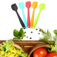 Wholesale Tools Butter Cake - Colorful Cake Butter Cream Spatula Oil Bread Scraper Brush Silicone Baking & Pastry Tools Kitchen Tool Gadget