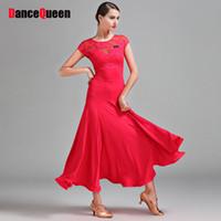 gelber tanzrock kurz großhandel-Sexy Modern Dance Kleider Für Damen Grün Rot Gelb Kurzarm Röcke Günstige Erwachsene Frauen Ballsaal Chacha Tanzen Kleidungsstück I073