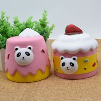 Wholesale cake decorations china - Kawaii Bear Cake Squishy Simulation PU Bread Squishies Slow Rising Reliever Stress Vent Toys For Kid Gift 15bxa CB