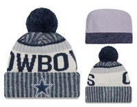 Wholesale Active Orders - Knit Pom Beanie Hats Winter Caps Brand Sports Teams Knitted hat 2018 Sideline Sport Knit Hat with Pom Mix Order High Quality YDMY33